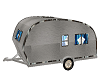 Small silver trailer