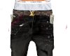 PAINTED JEANS BLK LV
