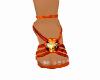 Orange/red Heels