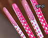 q! pink poison nails