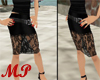 MP Lace Knee Lenght Blk