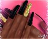 Black N Gold Nails