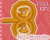 DOLL M/F Clock Gold KEY1