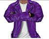 Purple Leather Jacket M