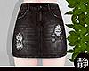 ☁ Jean Skirt l Black