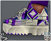 Purple Pattern Shoes