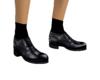 Black dress shoe & socks