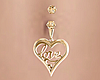 Gold Love Belly Ring