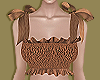 Brown Bow Smock Top