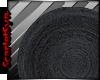 2015 Round Black Rug