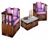 Cherry Wood Chair Set