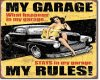 Pinup Girl Garage Sign