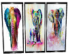 3x Elephant Posters