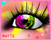 pink/yellow colores eyes