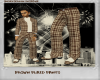 {SL} Brown Plaid Pants