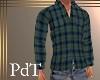 PdT BluGrn Plaid Shirt M