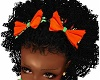 Kids Fall Pumpkin Bows