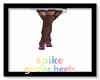 Spike Garter Heels