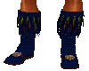 Blue Feather Boots