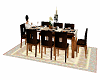 brown dining set