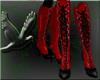 ~D~  red & blk PVC boots