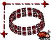 Bezel Bracelet Red L