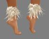 {LA} Ankle fur white