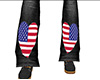 Flag Heart Flared Jeans