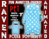 BLUE POLKA MONSTER PET