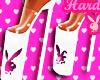 Playboy White Heels
