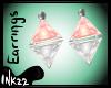 Peach Diamond Earrings