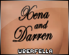 Xena Darren Chest Tattoo