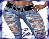 $ Torn Heart Belt Jeans