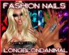 Long metallic red nails