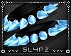 !!S Spike Cuff Set Blue