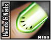 [M] Lime Melon Nails