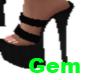 [g] black high heels