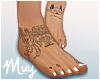m. Bare feet w/ tats #1