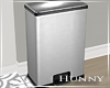 H. Stainless Trash Can