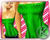 `K Long Tube Top Green