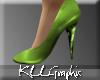 [KLL] Glitter Heels Lime