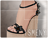 [Is] Wedges Sandals Blac