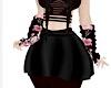 KPop RLS Blk Pleat Skirt
