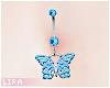 Aqua Butterfly Piercing
