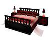 red black bed