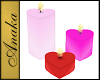 Pink Red Heart Candles