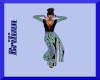 [B]Elegant Blue Pantsuit