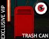 Carnival rusty trash can