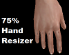 75% Hand Resizer Sizer