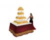 elegant gold white cake